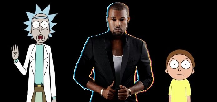 Kanye West com Rick and Morty