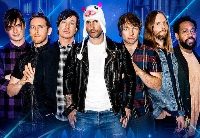 Anúncio do Maroon 5 no Brasil
