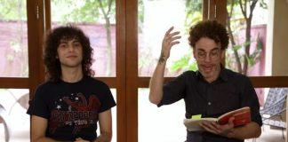 Nando Reis e seu filho, Sebastião