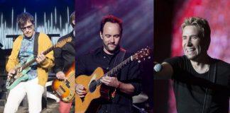 Weezer, Dave Matthews Band e Nickelback