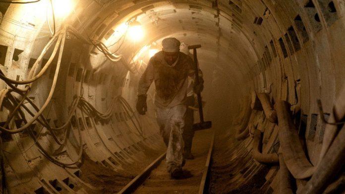 Escavação na usina de Chernobyl
