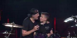 Metallica moleque de 13 anos na bateria