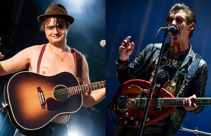 Pete Doherty (Libertines) e Alex Turner (Arctic Monkeys)