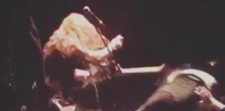 Phil Demmel fã cabelo guitarra stagedive