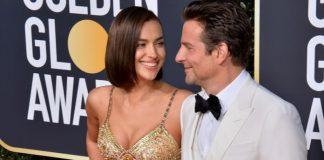 Bradley Cooper e Irina Shayk no Globo de Ouro