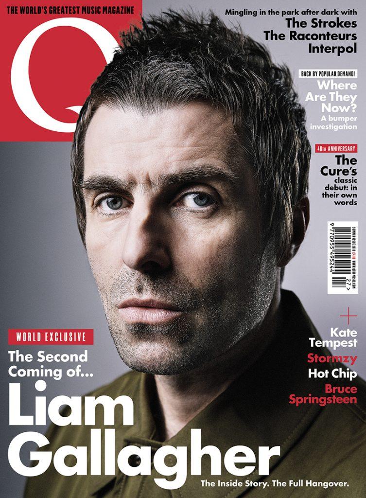 Liam Gallagher na capa da revista Q