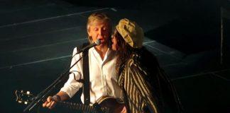 Paul McCartney (Beatles) e Steven Tyler (Aerosmith)