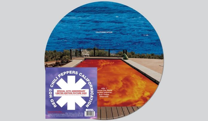 Red Hot Chili Peppers e o vinil Picture Disc de Californication