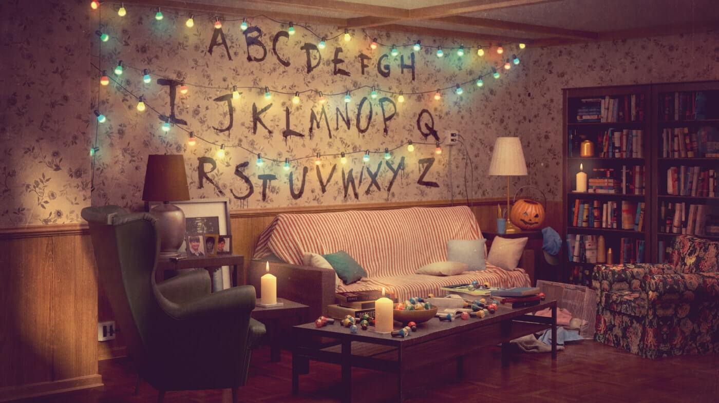 Sala de Stranger Things recriada na IKEA
