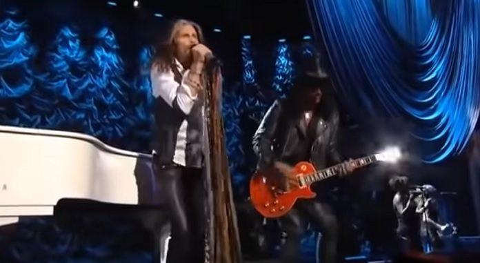 Aerosmith (Steven Tyler) e Slash