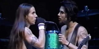 Anthony Kiedis e Dave Navarro Red Hot Chili Peppers