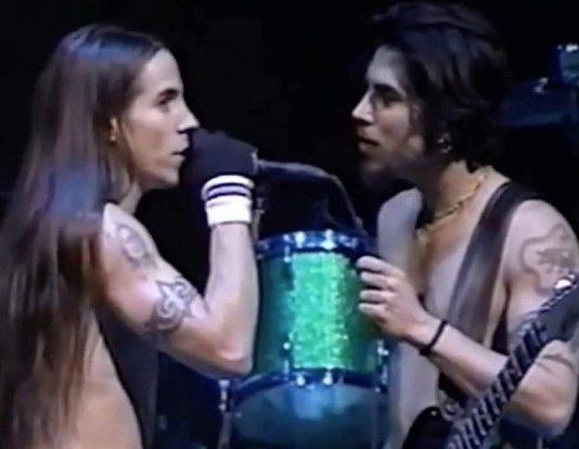 Anthony Kiedis e Dave Navarro Red Hot Chili Peppers