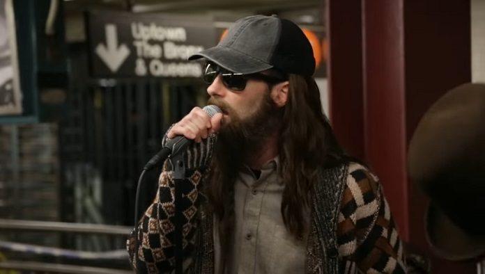 Maroon 5 e Jimmy Fallon metrô NYC