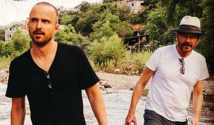 Aaron Paul (Jesse Pinkman) e Bryan Cranston (Walter White)