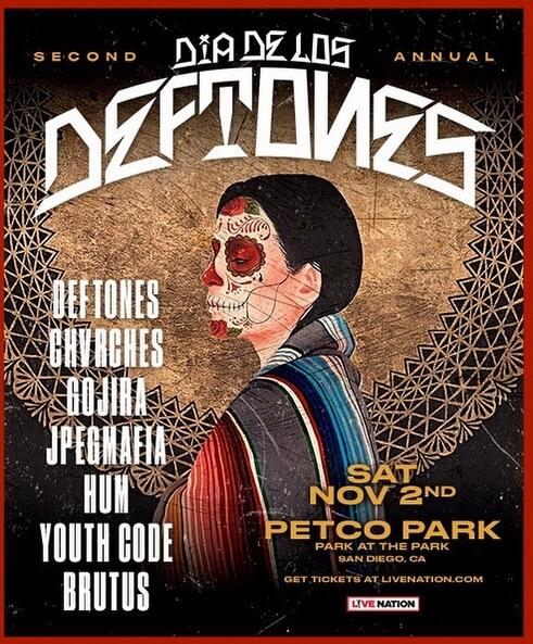 Dia de Los Deftones - Cartaz da Segunda Edição