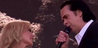 Kylie Minogue e Nick Cave no festival de Glastonbury