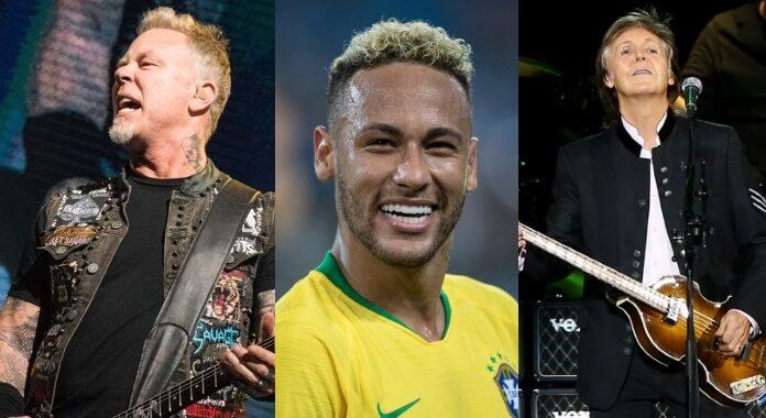 Metallica, Neymar e Paul McCartney