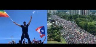 Ricky Martin em protestos de Puerto Rico