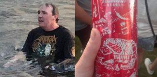 Fã de Slayer tenta nadar de volta para o show