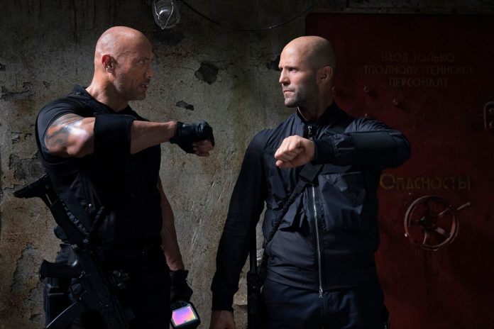 The Rock e Jason Statham em Hobbs & Shaw