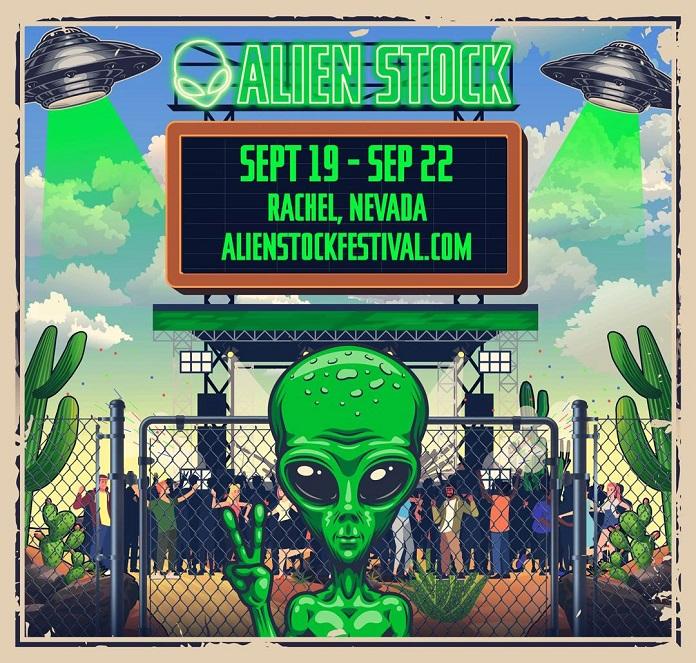 Festival Invasão Área 51 Alien Stock Poster