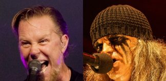 James Hetfield (Metallica) e Tom G Warrior (Celtic Warrior)