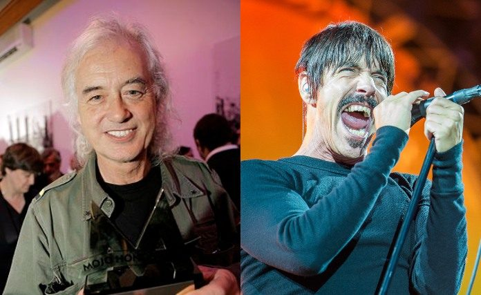 Jimmy Page e Anthony Kiedis (Red Hot Chili Peppers)