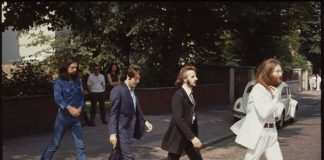 Beatles na sessão de fotos em Abbey Road