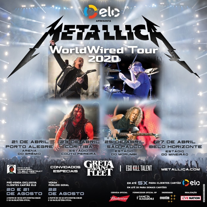 Metallica, Greta Van Fleet e Ego Kill Talent