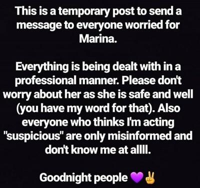Post do namorado de Marina Joyce
