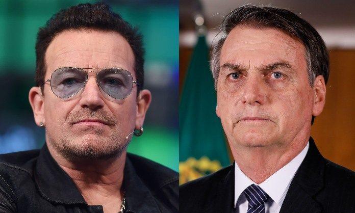 Bono (U2) e Jair Bolsonaro