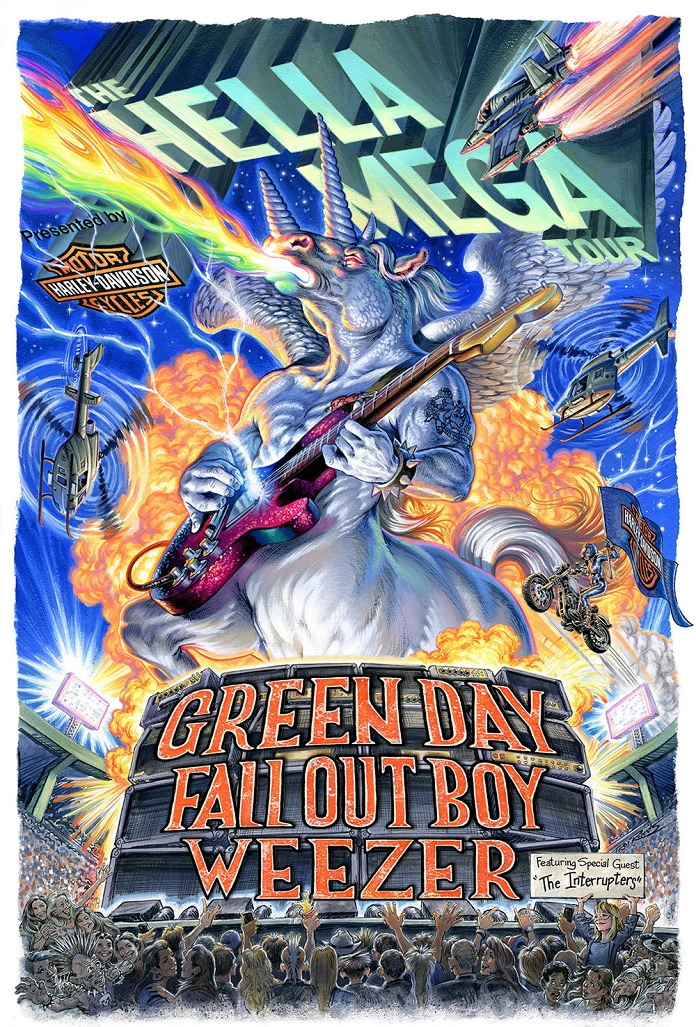 Hella Mega Turne Green Day Weezer Fall Out Boy