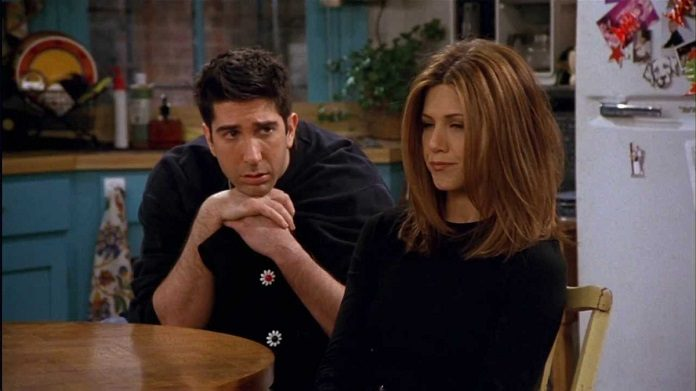 Ross e Rachel em Friends