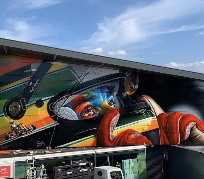Mural de Ayrton Senna por Eduardo Kobra
