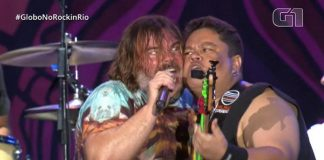 Júnior Groovador e Jack Black no Rock in Rio 2019
