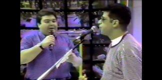 Lulu Santos e Faustão em 1992