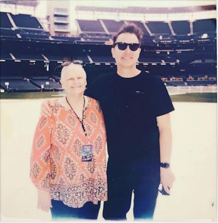 Mark Hoppus e sua mãe