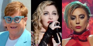Elton John, Madonna e Lady Gaga