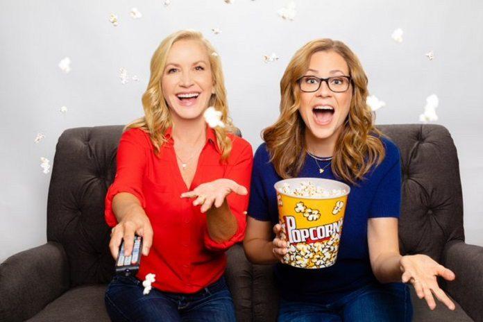 Jenna Fischer (Pam Beesly) e Angela Kinsey (Angela Martin) The Office