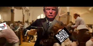 Montagem de Donald Trump em vídeo polêmico