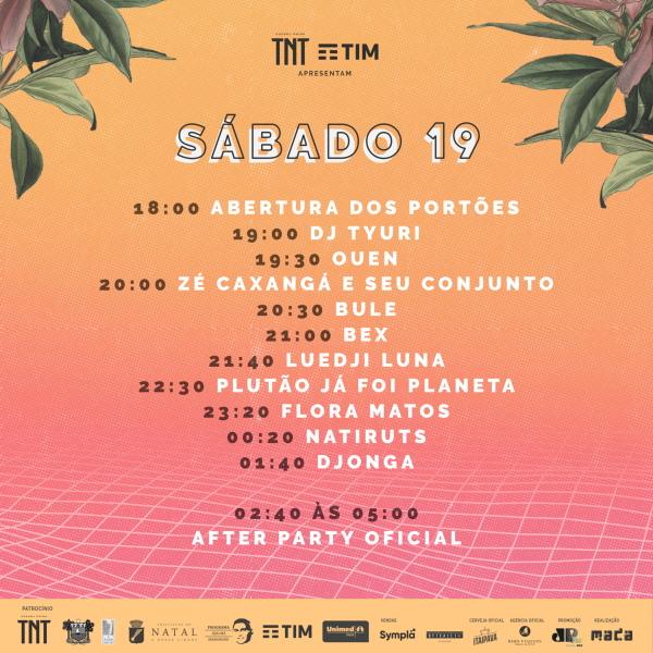 Line-up de Sábado do Festival MADA 2019