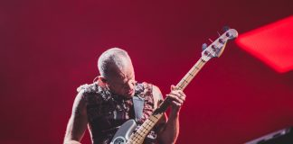 Flea com o Red Hot Chili Peppers no Rock In Rio 2019
