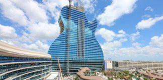 Hard Rock Hotel em formato de guitarra