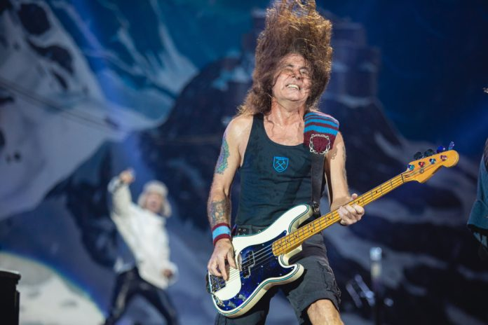 Steve Harris do Iron Maiden no Rock In Rio 2019