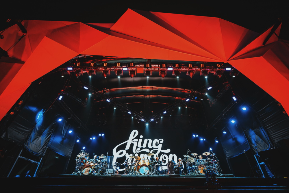 King Crimson no Palco Sunset do Rock In Rio