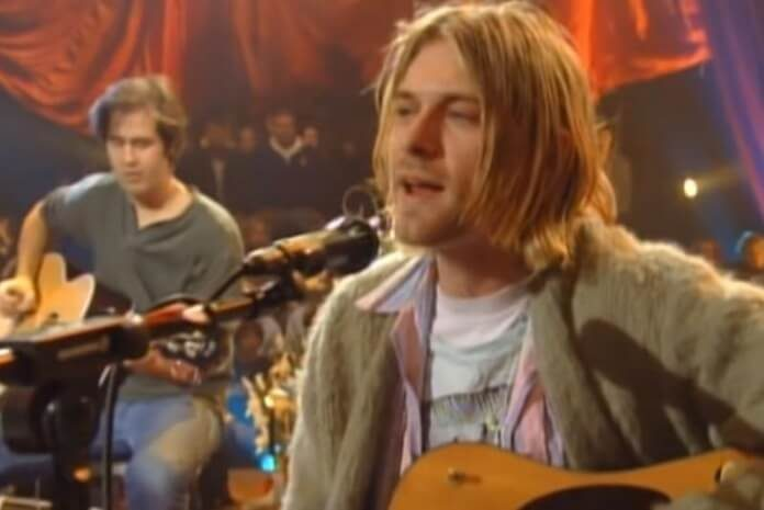 Kurt Cobain no Acústico MTV do Nirvana