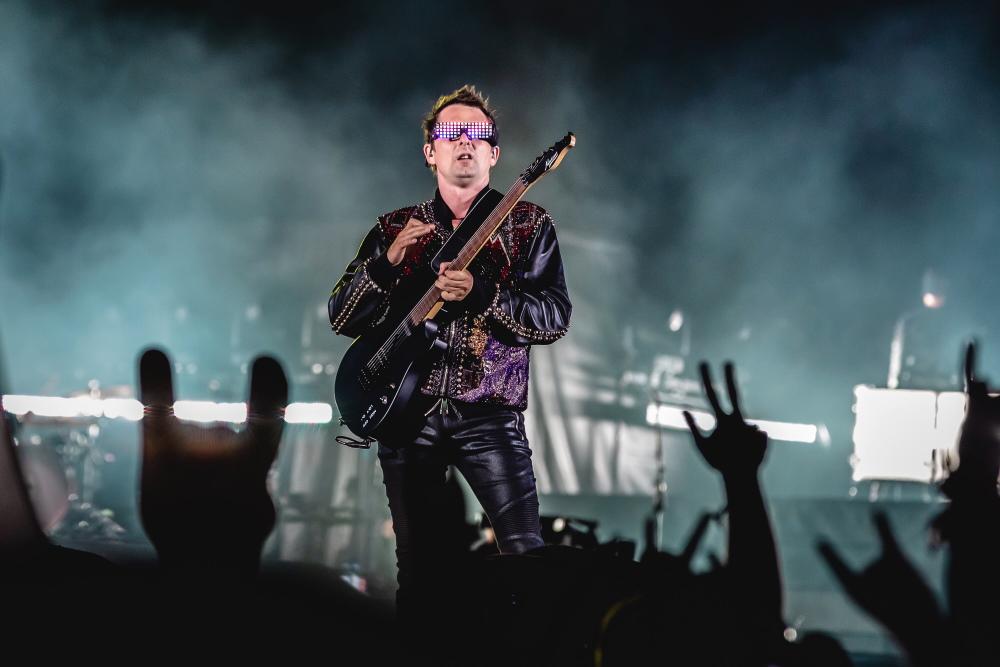 Matt Bellamy com o Muse no Rock In Rio 2019