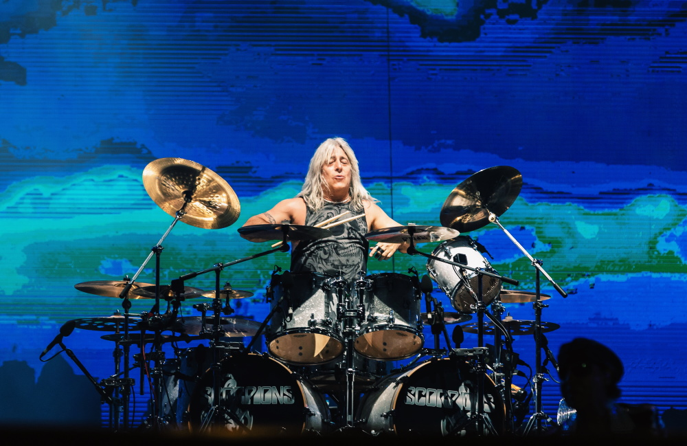 Mikkey Dee, baterista do Scorpions no Rock In Rio
