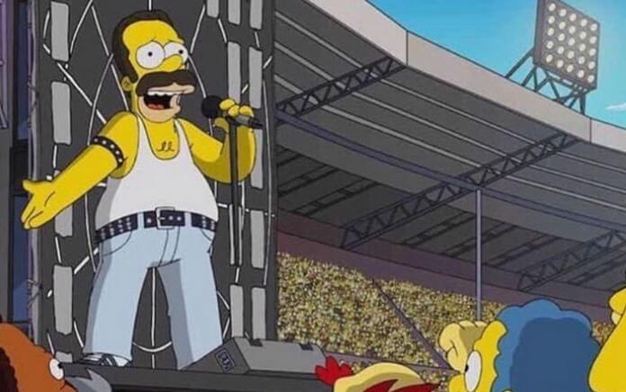 Homer Simpson, Freddie Mercury, Queen e Live Aid