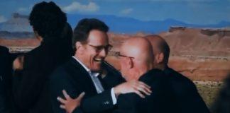 Walter White, Hank e Mike na estreia de El Camino